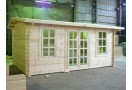 Casetta in legno Rome Plus 15m² (5x3m), 44mm