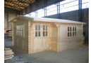 Casetta in legno Alpina Plus 20m² (5x4m), 44mm