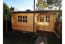 Casetta in legno Alpina Plus 12m² (4x3m), 44mm