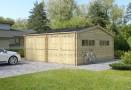 Double C-Garage in legno 36m² (6x6m), 44mm