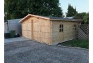 Double Garage in legno 36m² (6x6m), 44mm