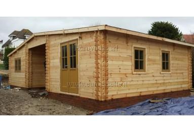 Casa da vacanza con doppia parete Borneo 11x6 (66m²), 44-50-44mm