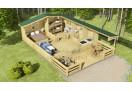 Casa da vacanza Spagna 39m² (6x6,5m) + veranda, 44 mm