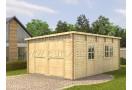 Garage in legno Modern compreso il portone 24m² (4x6m), 44 mm