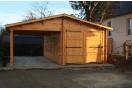 Garage in legno + Carport 36m² (6x6m), 44mm