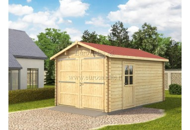 Garage in legno 15m² (3x5m), 34mm