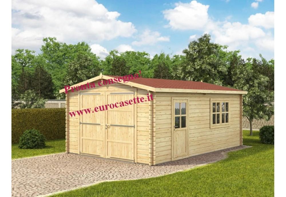 Garage in legno senza il portone 24m² (4x6m), 44mm