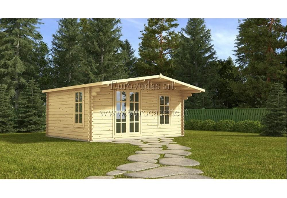 Casetta in legno Studio 20m² (5x4m), 44mm