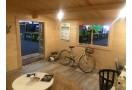 Casetta in legno Monaco 16m² (4x4m), 44mm