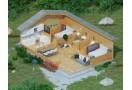 Casa da vacanza Lora 51m² (6x8,5m), 44mm