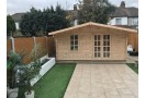 Casetta in legno Madrid 25m² (5x5m), 34mm
