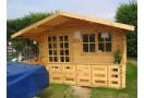 Casetta in legno Malaga 16m² (4x4m), 34mm