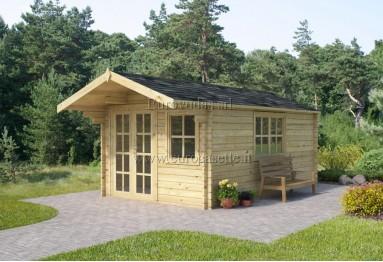 Casetta in legno Malaga 12m² (3x4m), 34mm