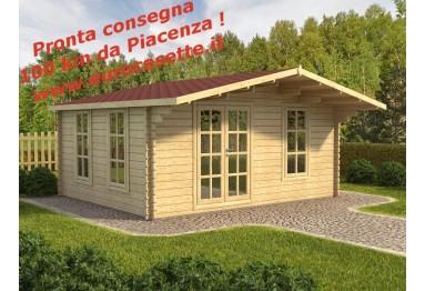 Casetta in legno Milano 20m² (5x4m), 44mm