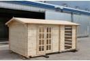 Casetta in legno Nadine 5x3m (15m²), 34mm