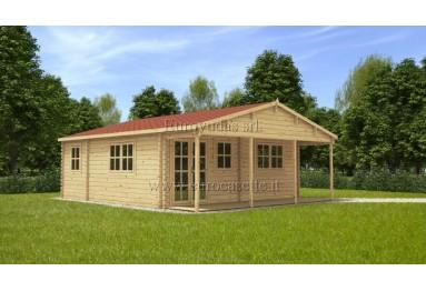 Casa da vacanza Paris (6x6m) + veranda, 44 mm