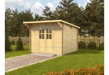 Casetta in legno Pau 9m² (3x3m), 34mm