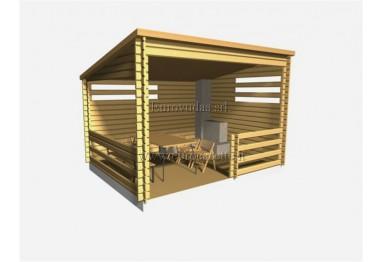 Pergolato in legno 4x3m, 34mm