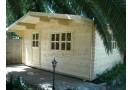 Casetta in legno Porto 16m² (4x4m), 34mm