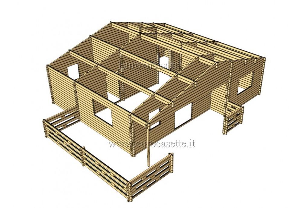 CASA DA VACANZA SILVER 68,5M² (8,9 X 7,7M) 68 MM + VERANDA