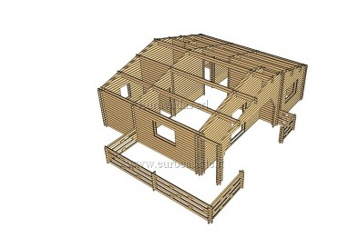 Casa da vacanza Silver 68,5m² (8,9 x 7,7m) 44mm-120-44mm + veranda
