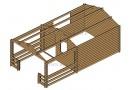 Casetta in legno Roy 24m² (4x6m), 44mm