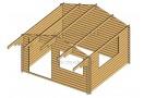 Casetta in legno Savona 12m² (4x3m), 34mm