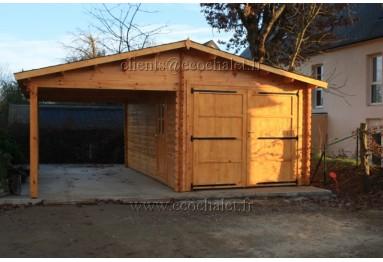 Garage in legno su misura