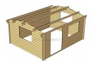 Casetta in legno Rumus Plus 20m² (5x4m), 44mm
