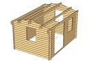 Casetta in legno Rumus 12m² (4x3m), 34mm